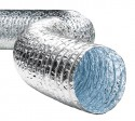 Воздуховод гибкий неизолированный алюминиевый Alushine 127 мм
