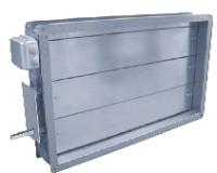 Воздушные клапаны с подогревом для прямоугольных воздуховодов СВК-НС