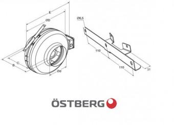 Кронштейн для вентилятора Ostberg