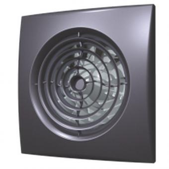 Вентилятор осевой с обратным клапаном ERA AURA 5C Dark gray metal D125