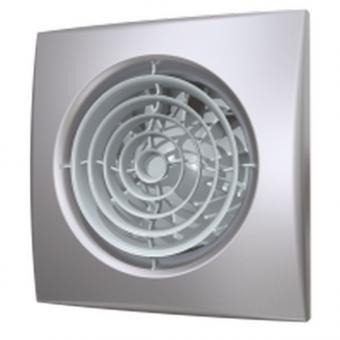 Вентилятор осевой с обратным клапаном ERA AURA 5C Gray metal D125