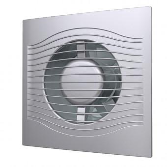 Вентилятор осевой с обратным клапаном ERA SLIM 4C Gray metal D100