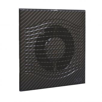 Вентилятор осевой с обратным клапаном ERA SLIM 5C Black carbon D125