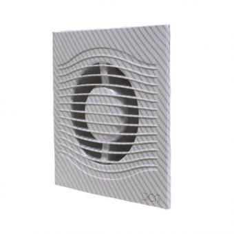 Вентилятор осевой с обратным клапаном ERA SLIM 5C White carbon D125