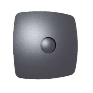Вентилятор осевой с обратным клапаном ERA RIO 5C Dark gray metal D123