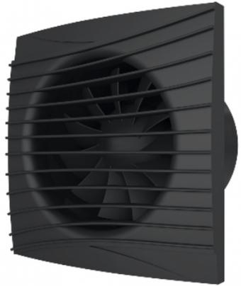 Вентилятор осевой с обратным клапаном ERA SILENT 5C Matt black D125