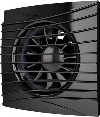 Вентилятор осевой с обратным клапаном ERA SILENT 4C Оbsidian D100