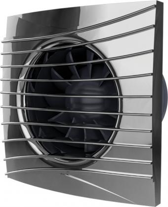 Вентилятор осевой с обратным клапаном ERA SILENT 5C Оbsidian D125