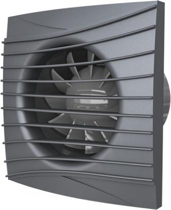 Вентилятор осевой с обратным клапаном ERA SILENT 4C Dark gray metal D100