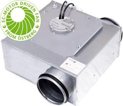 Низкопрофильный вентилятор Ostberg LPKB 160 C1 EC-y1