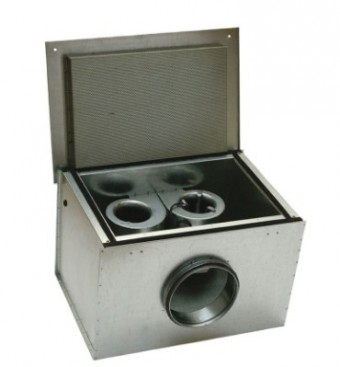 Шумоизолированный вентилятор Systemair KVK DUO 125 Circular duct fan