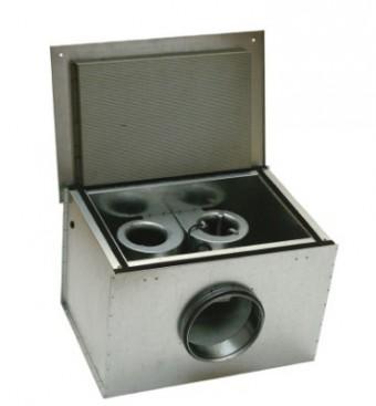 Шумоизолированный вентилятор Systemair KVK DUO 160 Circular duct fan