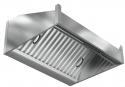 Зонт пристенный прямоугольный ЗВК-СБ-ПВ-П-600x800x400-П-Л-ЖЛK-БК