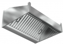 Зонт пристенный прямоугольный ЗВК-СБ-ПВ-П-800x800x400-П-Л-ЖЛK-БК
